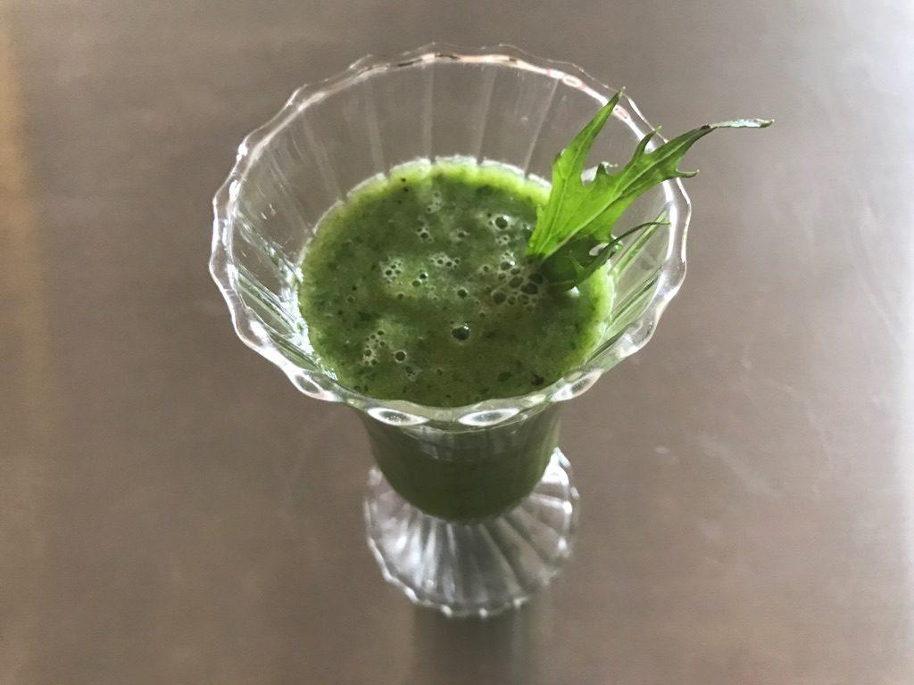 有機野菜水菜で作るスムージー