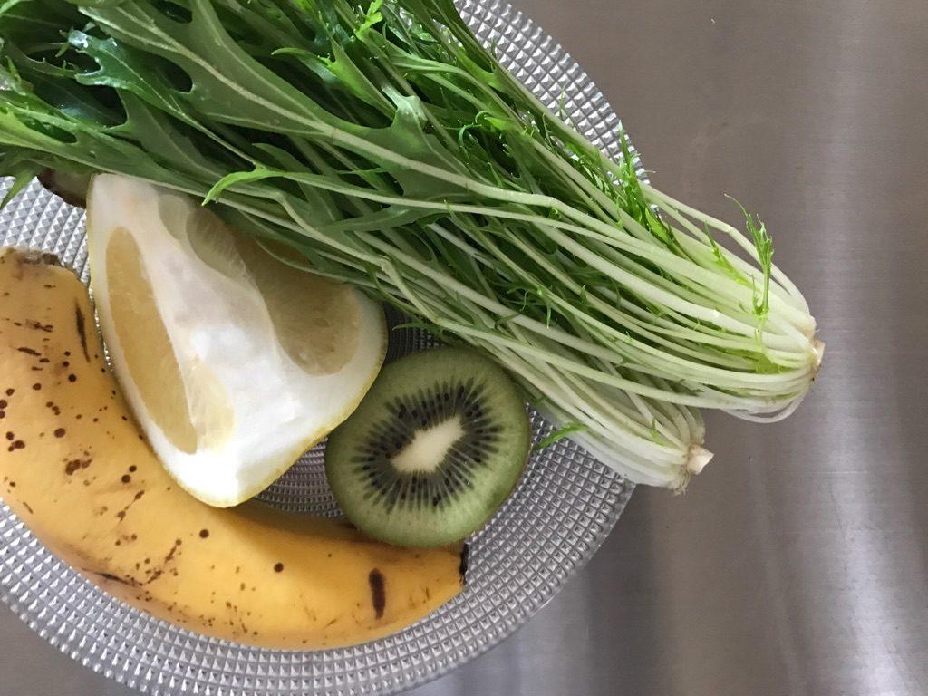 水菜・ハッサク・バナナ・キウイスムージー素材